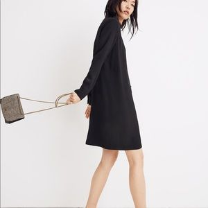 New Madewell Heather Black Button-Front Dress
